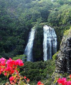 Wailua Falls, Kauai, Hawaii  I have been here before, Beautiful Island.......Kauai