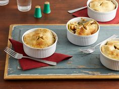 Veggie Pot Pie with Cornmeal Pie Crust Recipe : Damaris Phillips : Food Network Pie Crust Recipes, Pie Crusts, Vegetarian Thanksgiving, Thanksgiving Recipes, Food Network Recipes, Food Processor Recipes, Vegetable Pot Pies, Veggie Meals, Kitchens