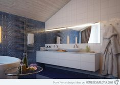 15 Modern Double Sink Bathroom Vanity Sets | Home Design Lover