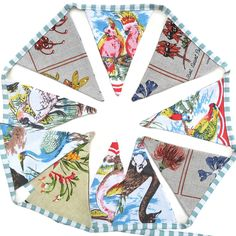 Australian Australian Birds & Wildflowers Linen BUNTING | Merry-Go-Round on Madeit Advance Australia Fair, Playing Cards, Playing Card Games, Game Cards, Playing Card
