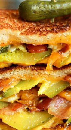 (Im really unsure on this one, worth a try) Dill Pickle Bacon Grilled Cheese