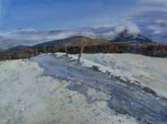 Watercolors, Snow, Mountains, Winter, Nature, Travel, Outdoor, Watercolor, Winter Time