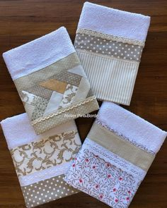 Dish Towels, Tea Towels, Crochet Projects, Sewing Projects, Hand Embroidery Designs, Sewing Techniques, Kitchen Towels, Sewing Patterns, Applique