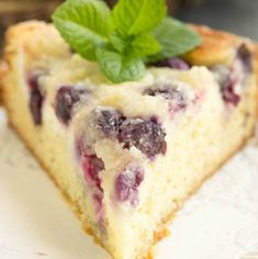 Streusel Topped Blueberry Cream Cheese Coffee Cake is a magical way to start the day! Crumb cake for breakfast pretty much guarantees a good day!
