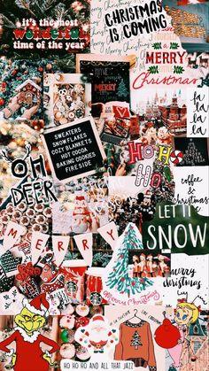 Wallpaper Collage, Look Wallpaper, Christmas Phone Wallpaper, Christmas Aesthetic Wallpaper, Holiday Wallpaper, Winter Wallpaper, Cute Patterns Wallpaper, Wallpaper Iphone Cute, Aesthetic Iphone Wallpaper