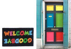 Un hogar lleno de #color es un #hogar lleno de alegría. Demuestra tu personalidad nada más llegar a la puerta de tu casa. #felpudo #doormate #LifeStyle www.fisura.com