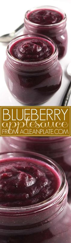 Blueberry Applesauce recipe from acleanplate.com