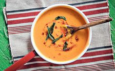 Squash soup gives that contented, warm-inside, cold-outside feeling which is   what autumn cooking is all about.
