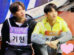Kihyun (monsta x) joshua (seventeen) Monsta X Kihyun, Hyungwon, Minhyuk, Yoo Kihyun, Shownu, Joshua Seventeen, Seventeen Memes, All The Things Meme, First Love