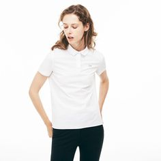 0314d1573e Women's Lacoste Regular Fit Stretch Poplin Shirt | LACOSTE Chemise, Mode,  Femme, Achat