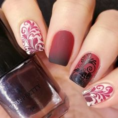 18 Ideas Of Damask Nail Art Pretty And Elegant Design To Try
