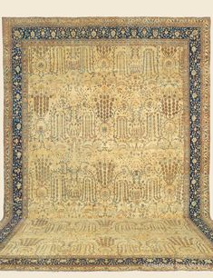 "FERAHAN, 15' 7"" x 20' 2"" — Circa 1875, West Central Persian Antique Rug - Claremont Rug Company  Click to learn more about this rug."