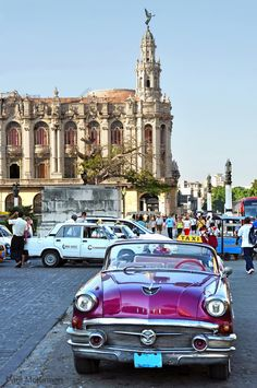 This was taken in front of El Capitolio, that is the Great Theatre of Havana in the background. It was late in the afternoon so the foreground is in sha. Afternoon in Havana Dream Vacations, Vacation Trips, Places To Travel, Places To See, Cuba Island, Cuban Cars, Cuba Fashion, Cuba Travel, Camper Renovation
