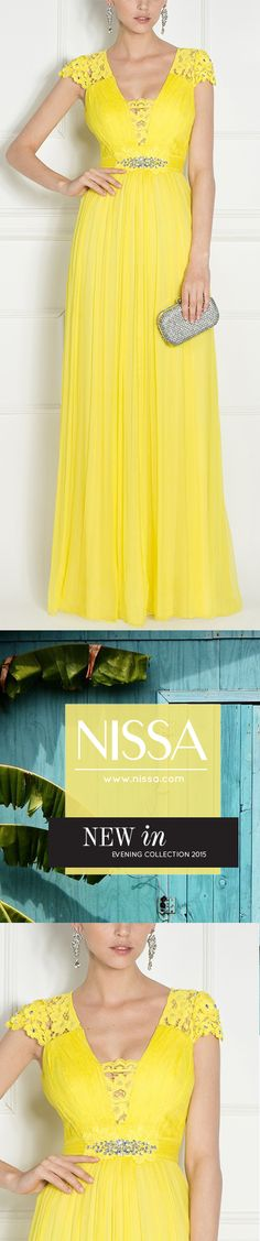 NISSA Evening 2015  ‪#‎nissa‬ ‪#‎evening‬ ‪#‎dress‬ ‪#‎silk‬ ‪#‎embroidery‬ ‪#‎crystals‬ ‪#‎fashion‬ ‪#‎look‬ ‪#‎style‬ ‪#‎glamorous‬ ‪#‎yellow‬ Look Fashion, Cloths, Evening Dresses, Shoulder Dress, Embroidery, Silk, Crystals, Yellow, Lady