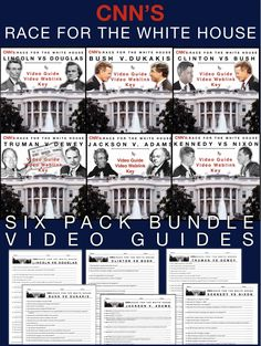 Race to the Whitehouse Video Guides Bundle plus video web links includes all… Teaching American History, American History Lessons, History Class, Teaching History, Teaching Tools, Teaching Resources, Psychology Courses, Colleges For Psychology, Teaching Government