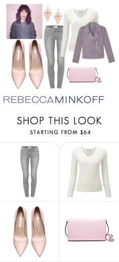 """""""Rebecca Minkoff: Pink & Gray"""" by danieswims ❤ liked on Polyvore featuring Rebecca Minkoff, Paige Denim, Kate Spade, Cara, women's clothing, women, female, woman, misses and juniors"""