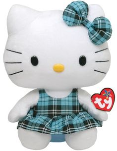 Ty Beanie Buddy Hello Kitty - Aqua Plaid (Medium) TY Bean... https://www.amazon.com/dp/B004R5A05O/ref=cm_sw_r_pi_dp_x_.wjvybFRJFDTK