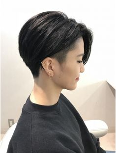 15 hair shorthairpixie hot shot warm balayage finalists 2019 behindthechair com haircolorbalayage brownhairbalayage Tomboy Haircut, Short Hair Tomboy, Tomboy Hairstyles, Undercut Hairstyles, Girl Short Hair, Short Hair Cuts, Asian Short Hairstyles, Shot Hair Styles, Curly Hair Styles
