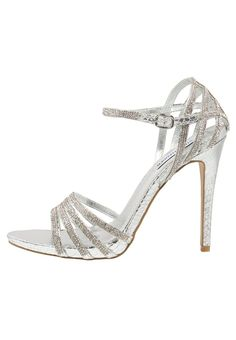 CAGGED - Sandales à talons hauts - silver