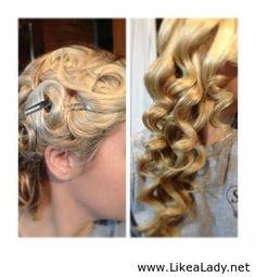 Over night - No heat curls