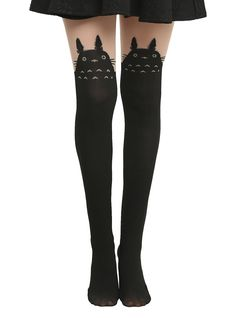 My Neighbor Totoro Faux Thigh-High Tights ($15)