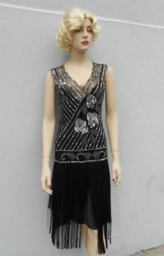 6e8724f1 Black Tango Flapper | Sophia's Costumes | Authentic Vintage Rentals and  Accessories
