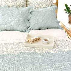 Pine Cone Hill Fanny Dusty Blue Quilt Set