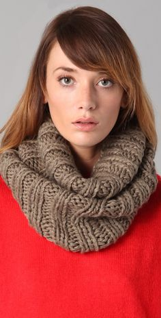 Bop Basics Thick Knit Collar Scarf | SHOPBOP