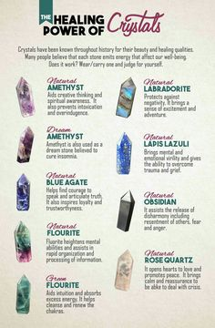 The healing power of Crystals                                                                                                                                                                                 Plus