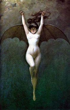 'Bat-woman' by Albert-Joseph Penot, circa 1890 . via Dark and fantastic arts FB