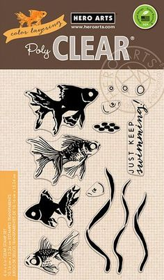 Hero Arts - Color Layering Collection - Clear Acrylic Stamps - Goldfish