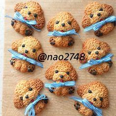Cute Snacks, Cute Desserts, Cute Food, Macaroon Cookies, Cupcake Cookies, Fancy Cookies, Royal Icing Cookies, Cute Bento, Wedding Appetizers