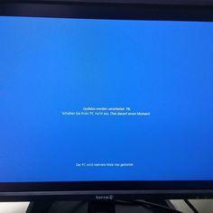 I fahr wieder heim ... Mei EDV Leben hat keinen Sinn mehr ;) #windows #updates