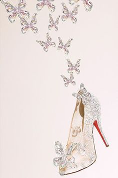 Christian Louboutin Cinderella shoes |Pinned from PinTo for iPad|