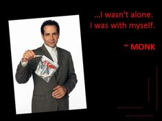 Funny and Smart Quotes from Tv Series and Movies pics) Tv Show Quotes, Movie Quotes, Monk Serie, Detective Monk, Stupid Funny Memes, Funny Stuff, Random Stuff, Monk Tv Show, Adrian Monk