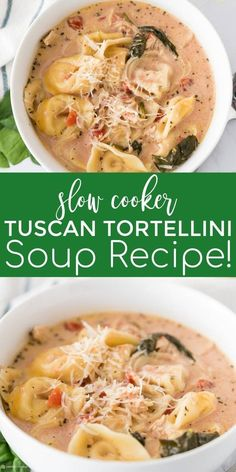 Learn how to make this savory and delicious slow cooker Tuscan tortellini soup recipe.  An easy slow cooker soup that the whole family will love #passion4savings #slowcooker #crockpot #soup #tortellinisoup #easytortellinisouprecipe #slowcookersoup #easywe