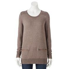 Croft & Barrow® Marled Sweater Tunic - Women's