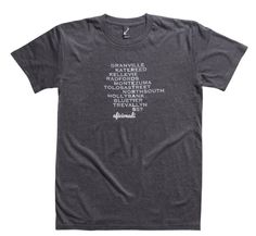 Tasmanian mountain bike trails crossword T Shirt for cyclists, until the next ride.