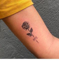 Little rose cute tattoo - tattooed models tattoed models - tattoo style - tattoo tatuagem - Little Dainty Tattoos, Sweet Tattoos, Dope Tattoos, Pretty Tattoos, Mini Tattoos, Body Art Tattoos, Small Tattoos, Tattoo Art, Tatoos