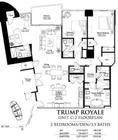 trump royale condo floor plans - Google Search