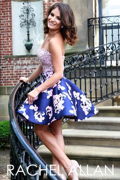 Prom 2016: Rachel Allan Style 4106- Navy and Lilac