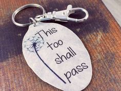 This Too Shall Pass Vintage Spoon Keychain, Quote Keychain,Inspirational Jewelry for Women, Gift for Friend, Coworker, Gift of Encouragement by kyleemaedesigns on Etsy