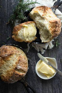 Irish soda bread with sharp cheddar and fresh rosemary