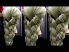 Original French Braid-4#it's very easy with Topsy-Tail Tool - YouTube