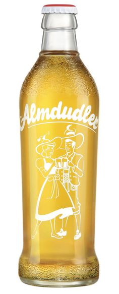 """Almdudler"" Austrian herb-flavored soda. This is one of my favorites, nice and clean. And it's a great drink! Tastes like ginger ale. #packaging"