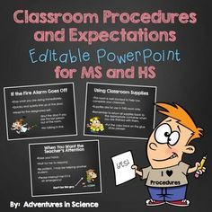 Having+classroom+procedures+and+expectation+in+place+for+the+first+day+of+school+can+make+all+the+difference+in+how+your+year+goes.++Set+the+right+tone+in+your+Middle+School+or+High+School+class+from+the+very+first+day+with+my+Classroom+Procedures+and+Expectations+Editable+PowerPoint!