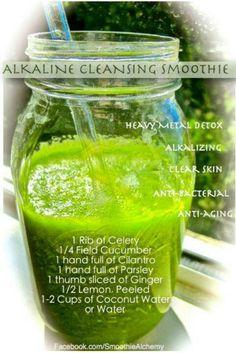 Alkaline cleansing smoothie