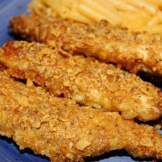 Yummy Chicken Recipe Main Dishes with chicken, ranch dressing, parmesan cheese, corn flakes, butter