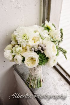 White, Green, & Gray Bouquet