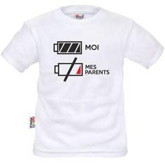 T-shirt enfant rigolo : je suis plein d'ENERGIE